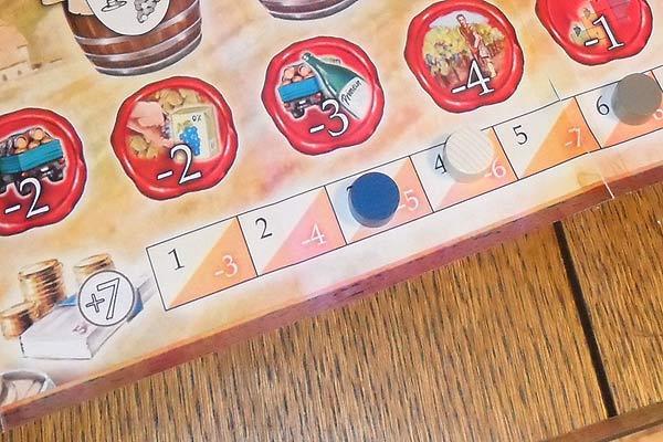 Grand Cru - Kredite und Zinsen um die Spieler unter Druck zu setzen von Ulrich Blum/eggertspiele