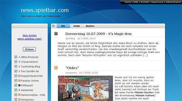 Newsseite von spielbar.com von