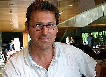 Stefan Dorra beim Spieleautorentreffen in Göttingen von Reich der Spiele