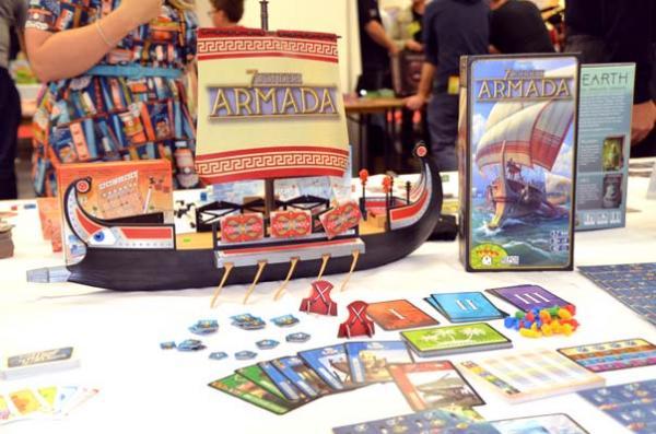 Foto von der Spiel '18: 7 Wonders - Armada