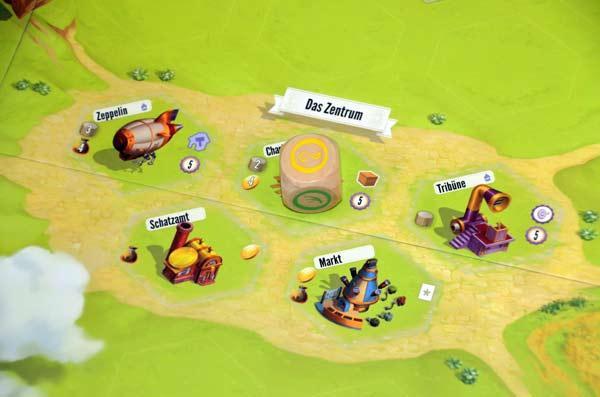 Foto von der Spiel '17: Charterstone Spielbrett