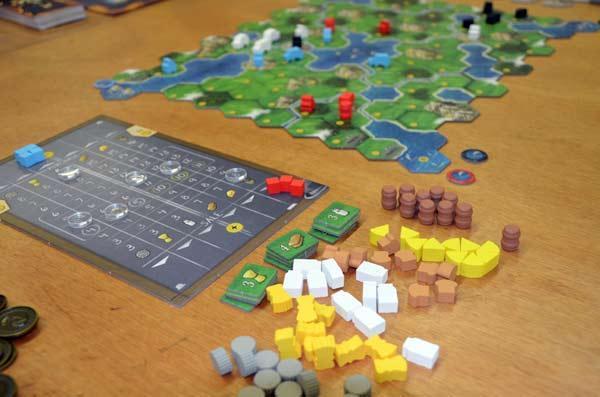 Foto von der Spiel '17: Clans Of Caledonia - Material und Aufbau
