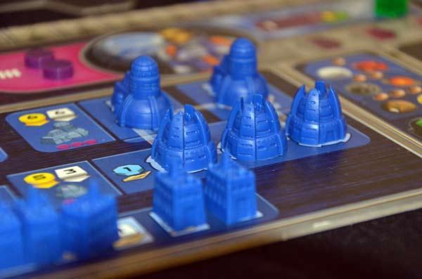 Foto von der Spiel '17: Gaia Project - Details des Spiematerials