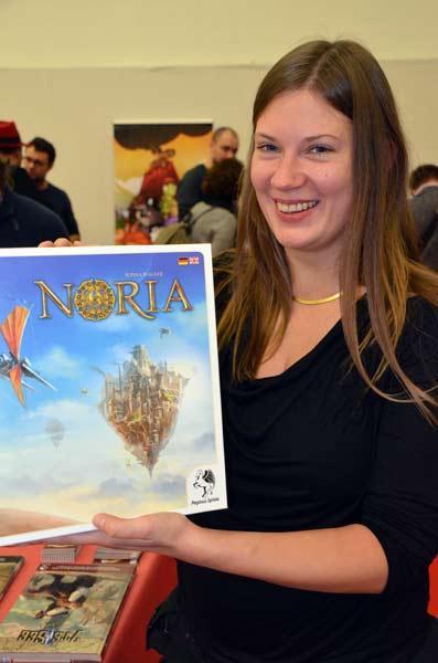 Foto von der Spiel '17: Sophia Wagner und ihr Brettspiel Noria
