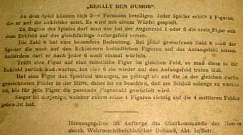 SPIELE vom Oberkommando der Wehrmacht - Spielregel - Foto Roland G. Hülsmann