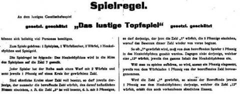 Das lustige Topfspiel von JFS - alte Anleitung - Foto Roland G. Hülsmann