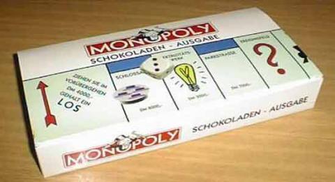 Schachtel Monopoly Schokoladen-Ausgabe  - Foto von Roland G. Hülsmann