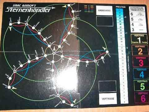 Isaac Asimov's Sternenhändler - Spielplan - Foto von Roland G. Hülsmann