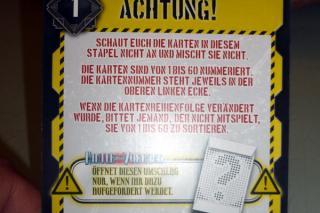 Deckscape: Hinter dem Vorhang - Warnung - Foto von Jörn Frenzel
