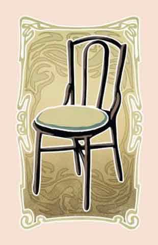 Karte mit Stuhl -  Cafe Melange - Foto von Clicker Spiele