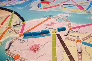 Zug um Zug: Japan & Italien - Japankarte - Foto von Axel Bungart