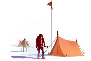 High Risk - Zelt - Grafik von Iello