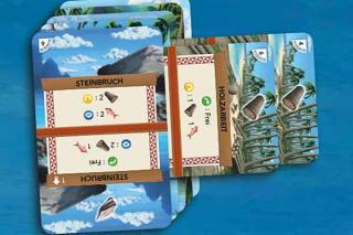 Palm Island - Spielkartenhaltung - Ausschnitt - Foto von Kosmos