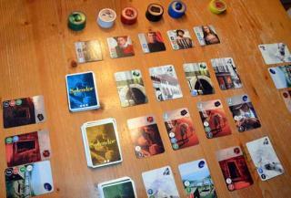 Splendor - Gesellschaftsspiel Spielaufbau - Foto von Axel Bungart
