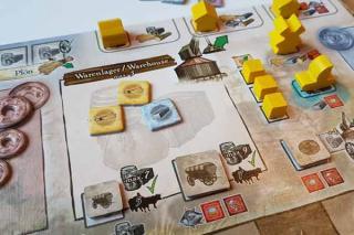 Brettspiel Vejen - Warenlager - Foto von Axel Bungart