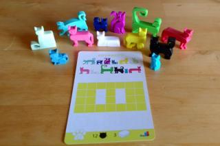 Solo-Puzzlespiel Cat Stax - Material - Foto: Steffi Münzer