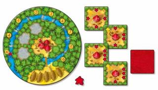 Legespiel Cacao - Spielmaterial von Rot - Foto von Abacusspiele