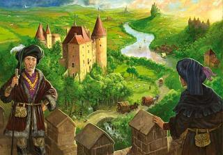 Die Burgen von Burgund - Grafik von der Schachtel von aleaspiele