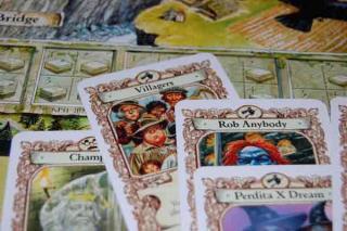 Die Hexen - Spielkarten im Scheibenwelt-Spiel - Foto von Hendrik Breuer