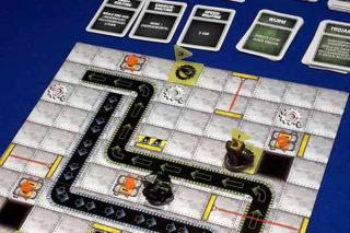 Robo Rally Spielaufbau - Foto von Axel Bungart