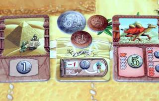 Spielmaterial von Camel Up - Foto Reich der Spiele