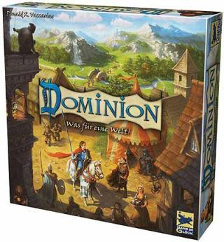 Dominion - neue Schachtelgrafik von Hans im Glück