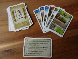 Beispiel zur Verfügung stehender Karten eines Spielers in Trambahn - Foto aus dem Reich der Spiele