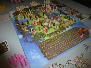 Spielszene bei Bunny Kingdom - Foto von Jörn Frenzel