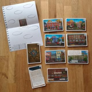 Pocket Detective: Gefährliche Machenschaften - Spielaufbau / Foto: Steffi Münzer
